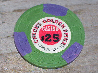 $25 Gaming Chip From Chuck's Golden Spike Casino Carson City Nv