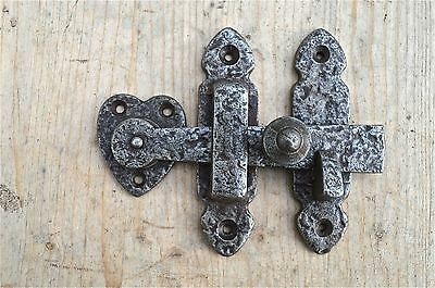 Arts And Crafts Style Beaten Cast Iron Door Latch Cupboard Lock Cabinet Door Bl1