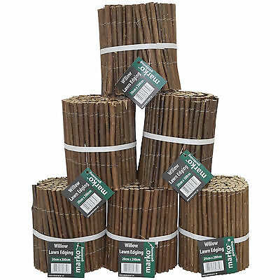 Willow Garden Lawn Edging Edge Border Flexible Pathways Fence Path Flower Bed uk