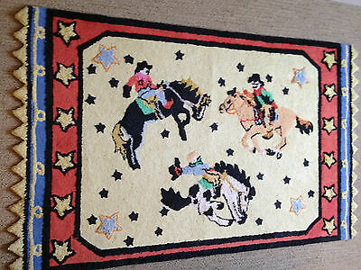"Western Cowboys 30""x50"" 100% Cotton Capel Style #2554  Rug"