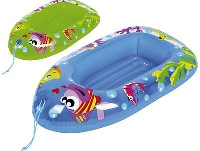 Fish Childs Inflatable Dinghy Float Boat Kids Children Swimming Pool Beach Toy