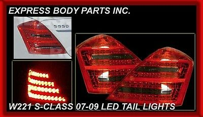New Mercedes Benz S Class S550 2007-2009 Smoked LED Tail Lamp Plug & Play W221