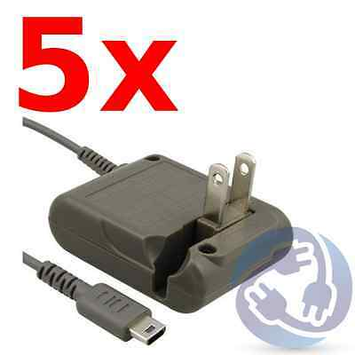 Lot - 5X AC Adapter Home Wall Power Supply Charger for Nintendo DSL Lite NDSL