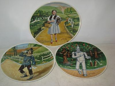 3 Knowles Wizard of Oz Plates - 1977 & 1978 - Portraitist James Auckland