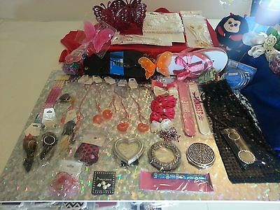 Girls Play Day Gift Craft Supplies Scrapbook Jewelry LOT 50 PIECES