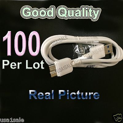 Lot 100 USB 3.0 Charging Data & Sync Cable Samsung Galaxy Note 3 & S5 wholesale