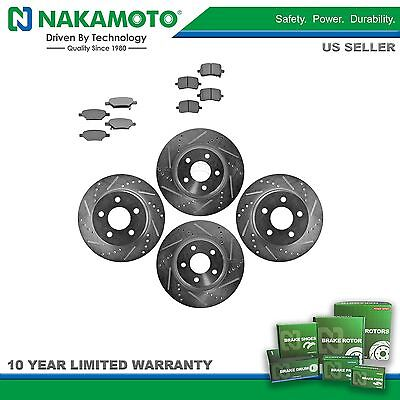 Nakamoto Rotor & Brake Pad Metallic Performance Drilled Slotted Front Rear Kit