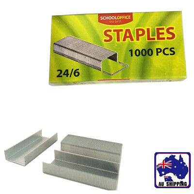 4 Packs No.3 24/6 Staples Standard 1000/Pack Refill School Office SSPIN2460x4