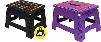 Plastic Folding Step Stool Strong Diy Stools Collapsible/Foldable Multipurpose