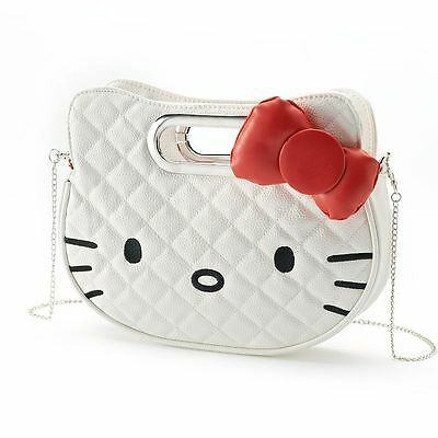 Hello Kitty Loungefly Red 3D Bow Quilted White Clutch/Crossbody Bag (SALE!)