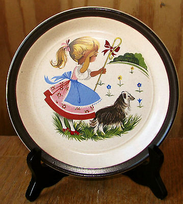 "1960s Doverstone England Nursery Rhyme 7 1/8"" Little Bo Peep Child's Plate EXCEL"
