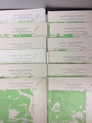 TEXAS VINTAGE 1964 US DEPT OF INTERIOR GEOLOGICAL SURVEY TOPOGRAPHIC MAPS(12)