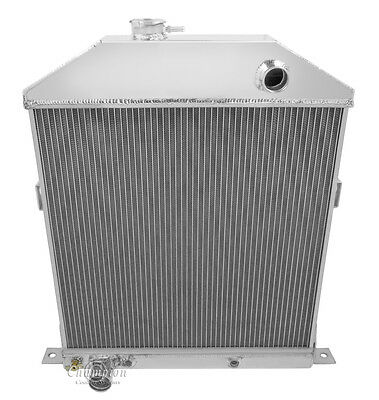 1942-1948 Ford/Mercury Coupe Aluminum 3 Row Champion Radiator