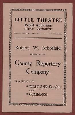Great Yarmouth. Little Theatre. 'Murder Without Crime' Macgregor Urquhart ed17
