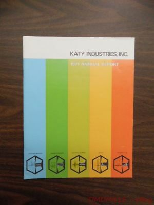 1971 Katy Industries Inc. Annual Report Vintage