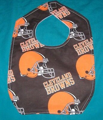 NEW BABY CHILD BIB  CLEVELAND BROWNS  FOOTBALL NFL   /SHIPPING DISCOUNTS