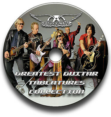 Aerosmith Rock Guitar Tabs Tablature Song Book Anthology Software Cd
