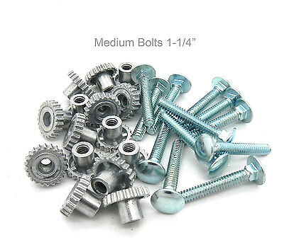 "Pet Carrier Crate Kennel Zinc Metal Fasteners Nuts & Bolts 1-1/4""  (16 MED Pack)"