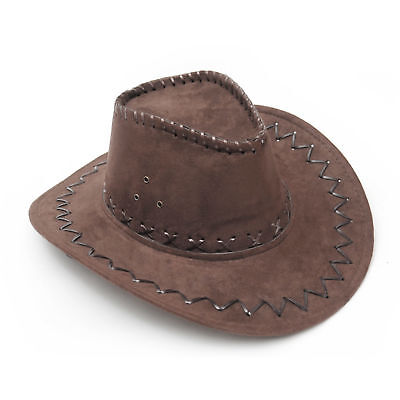 Dark Brown Western Cowboy Cowgirl Cattleman Hat For Unisex Party Costume