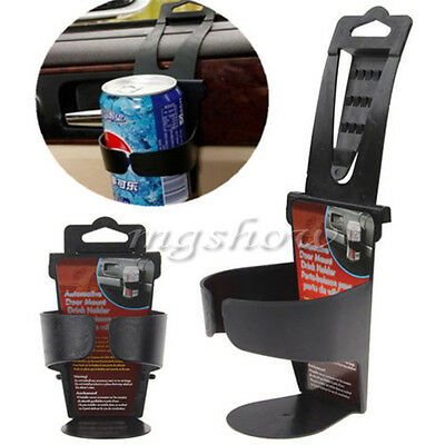 1pc Black Auto Car Vehicle Door Mount Water Bottle Drink Cup Mug Holder Stand