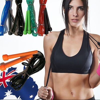 Skipping Jump Rope Fitness Exercise Sport Gym Jumping Black Blue Red Green SJUMP