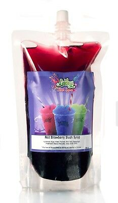 Strawberry Syrup x 330ml slush puppy Style concentrate slushie syrup pouch
