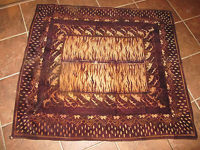 Chase Antique Wool Buggy Carriage Lap Blanket Animal Print