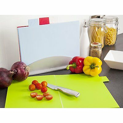 Cook Incolour Colour Coded 4 Foldable Chopping Board & Stand Set MCK37001