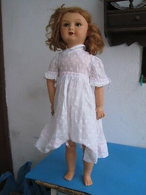 Antique Paper mache doll Articulated arms and legs Cries but does not work rare