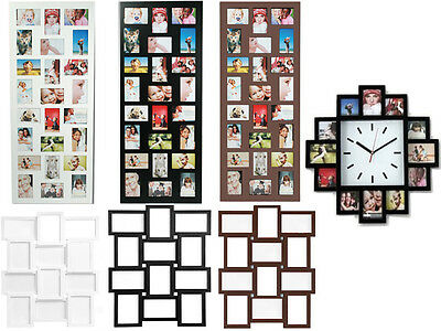 Photo Frame 24 Aperture/12 Aperture Clock Frame/12 Aperture Photo Multi Collage