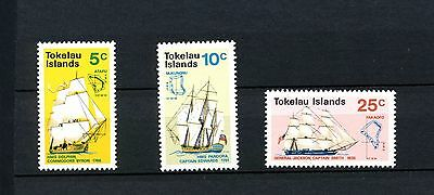 TOKELAU ISLANDS  Scott 22-24 Complete Set Historic Ships 1970 Mint NH Sail Ship