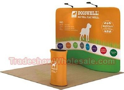 Trade Show Display Booth - Wavetube S Tension Backwall 10ft