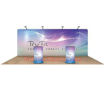 Trade Show Display Booth - Wavetube Flat Tension Backwall 20ft