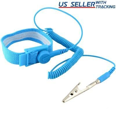 2X Anti-Static Wrist Strap ESD Grounding Discharge Band Clip On Adjustable Cord