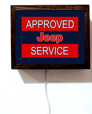 Approved Jeep Service Dealer Parts 4 Wheeling Auto Light Lighted Sign