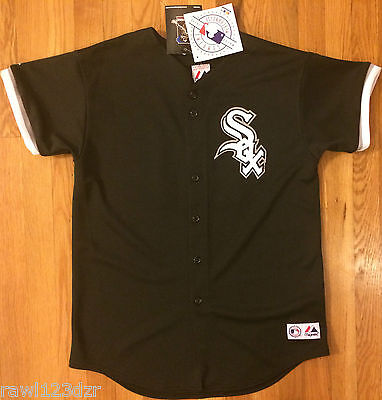 Jim Thome Chicago White Sox Majestic Black Sewn Jersey Youth S Small #25 NWT