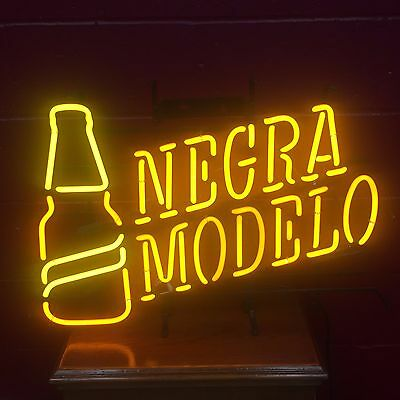 negra modelo beer logo with bottle neon light sign no shipping no