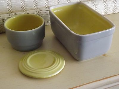 Vintage Hall Pottery Refrigerator Storage Ovenware Container by General Electric