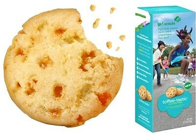 2 Boxes of New Toffee-Tastic Gluten Free Girl Scout Cookies - Rare! 100% 4 Troop