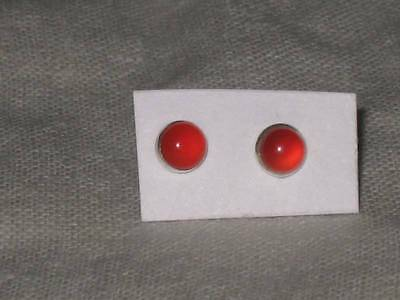 3mm Carnelian Stud Earrings Wicca Witch Coven Estate Weight Loss Health Energy