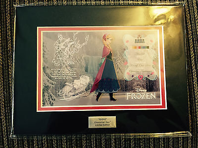 Disney Frozen Anna Character Key Hot Topic Cel Art Limited Edition
