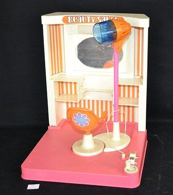 ThriftCHI ~ Vintage Barbie Beauty Salon w/ Battery Operated Lights & Dryer Chair