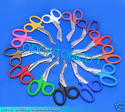 25 Pairs Trauma Shears Bandage Scissors 7 1/4""