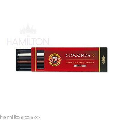 KOH-I-NOOR GIOCONDA MIXED ARTISTS LEADS - Packs of 6 different leads