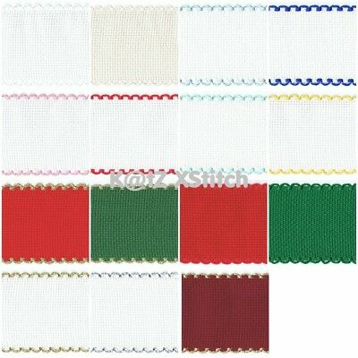 ZWEIGART AIDA BAND 50cm (19½in) OF 5cm (2in) / 26 STITCH WIDE (Various Colours)