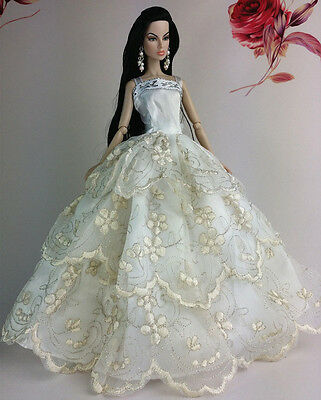 Fashion Princess Party Dress/Clothes/Gown For Barbie Doll S140P6