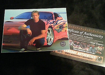 Paul Walker signed autograph 5x7 with COA-Proof  The Fast and the Furious (a)