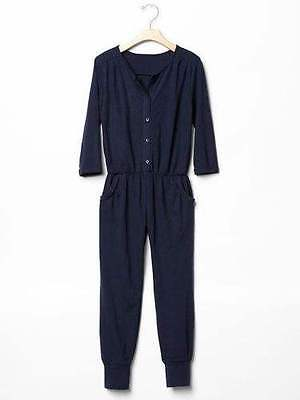 NWT Gap Kids girls size 6 7 8 10 romper jumpsuit navy blue TRENDY!  (a01)