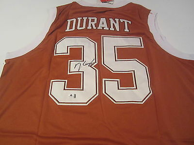 Kevin Durant Oklahoma City Thunder LONGHORNS Signed Autographed Jersey GAI Coa