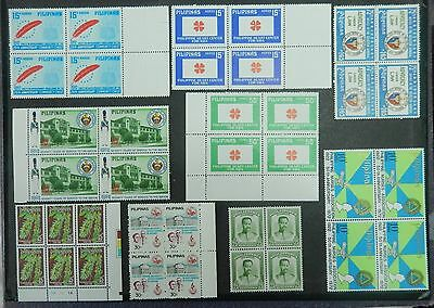 Philippines stamp 8  blocks of 4 mint never hinged with original gum